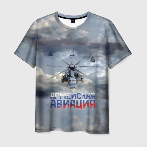 Мужская футболка 3D Армейская авиация