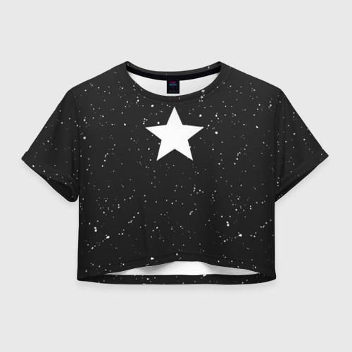 Женская футболка Crop-top 3D Super Star