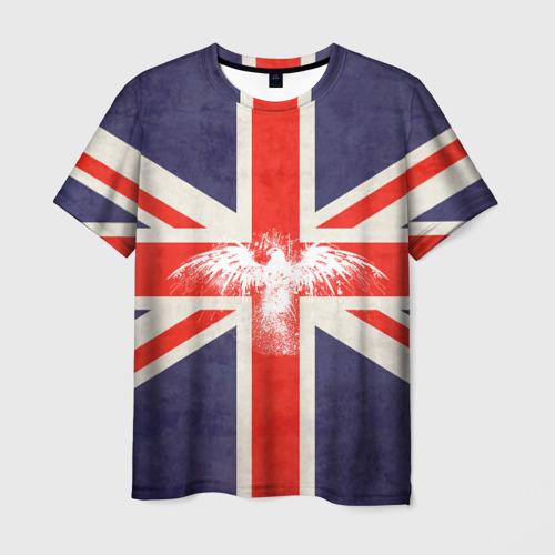 Мужская футболка 3D Флаг Англии с белым орлом