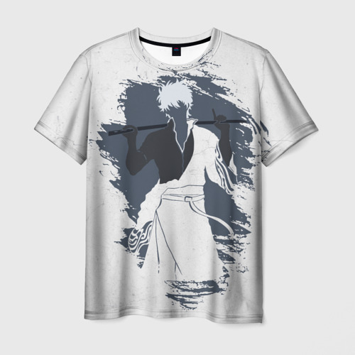 Мужская футболка 3D Гинтама Гинтоки