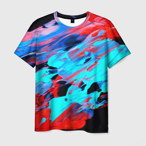 Мужская футболка 3D Краски лета