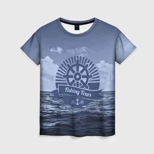 Женская футболка 3D Рыболовный тур