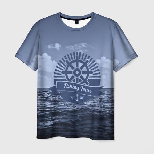 Мужская футболка 3D Рыболовный тур