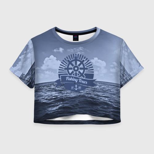 Женская футболка Crop-top 3D Рыболовный тур