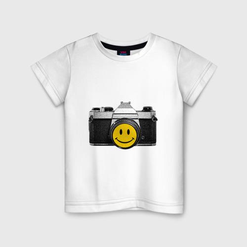 Детская футболка хлопок Фото-smile