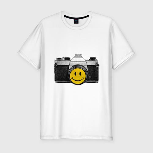 Мужская футболка хлопок Slim Фото-smile