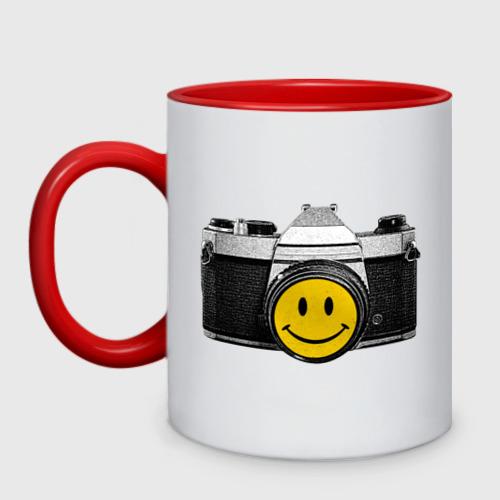 Кружка двухцветная Фото-smile
