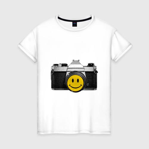 Женская футболка хлопок Фото-smile