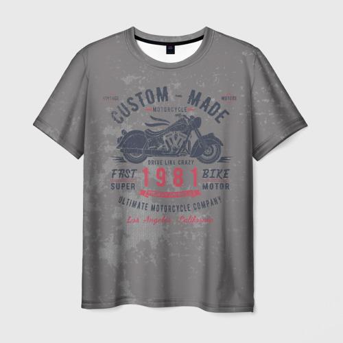 Мужская футболка 3D Мотоцикл-4