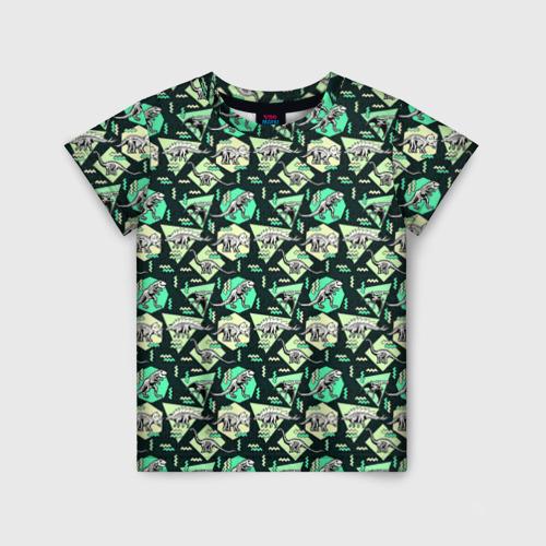 Детская футболка 3D Динозавры
