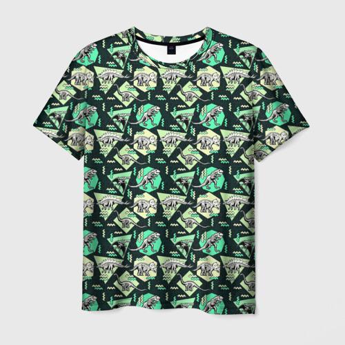 Мужская футболка 3D Динозавры