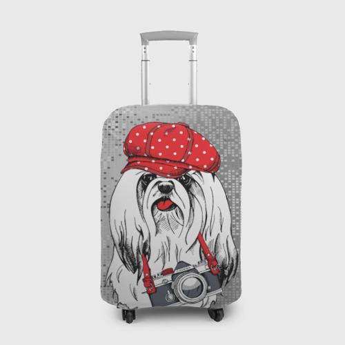 Чехол для чемодана 3D Собачка фотограф