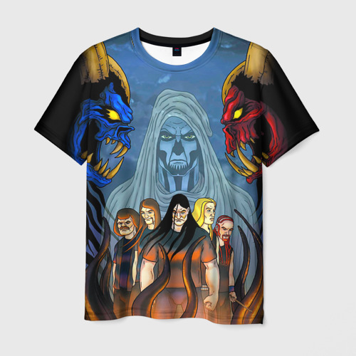 Мужская футболка 3D Metalocalypse (Dethklok) 4