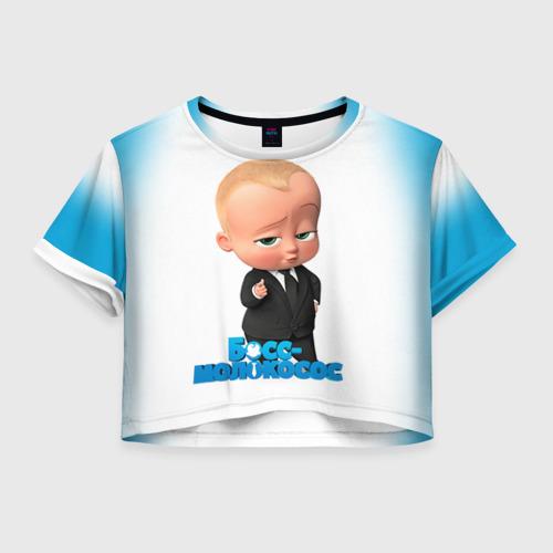 Женская футболка Crop-top 3D Boss Baby