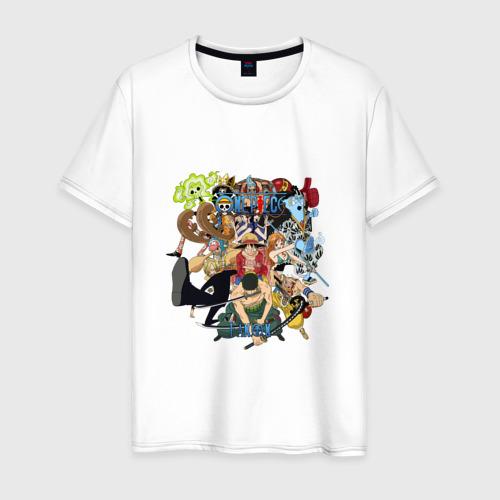 Мужская футболка хлопок Персонажи аниме ONE PIECE