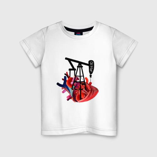Детская футболка хлопок Сердце нефтяника