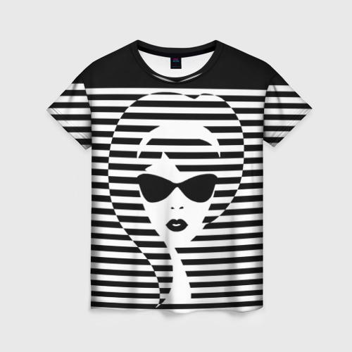 Женская футболка 3D Pop art girl