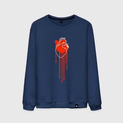 Мужской свитшот хлопок Живое сердце