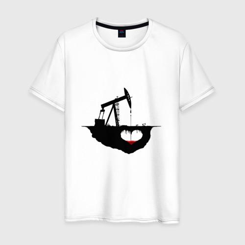 Мужская футболка хлопок Сердце земли