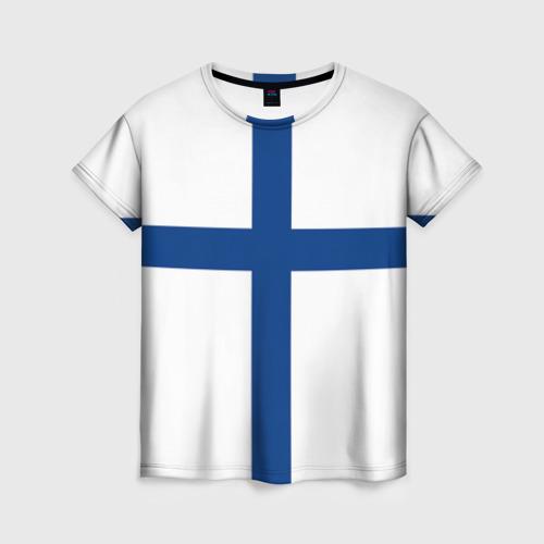 Женская футболка 3D Флаг Финляндии