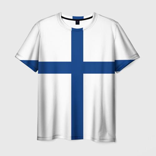 Мужская футболка 3D Флаг Финляндии