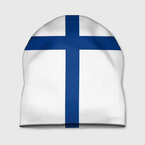 Шапка 3D Флаг Финляндии