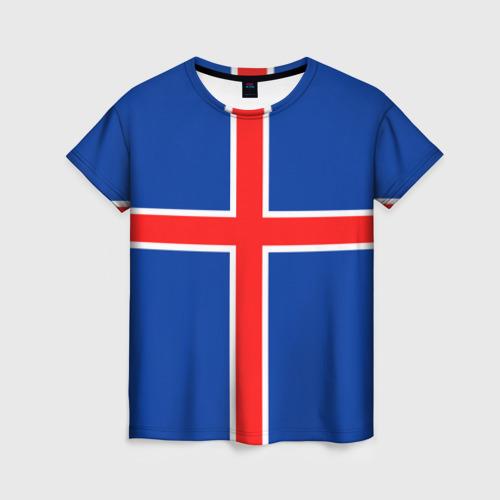 Женская футболка 3D Флаг Исландии