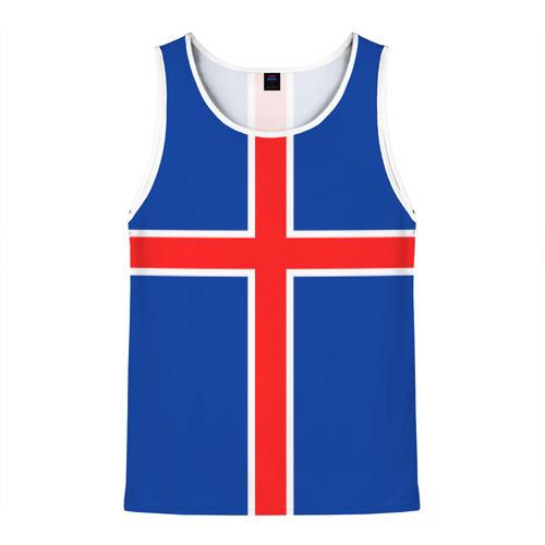 Мужская майка 3D Флаг Исландии