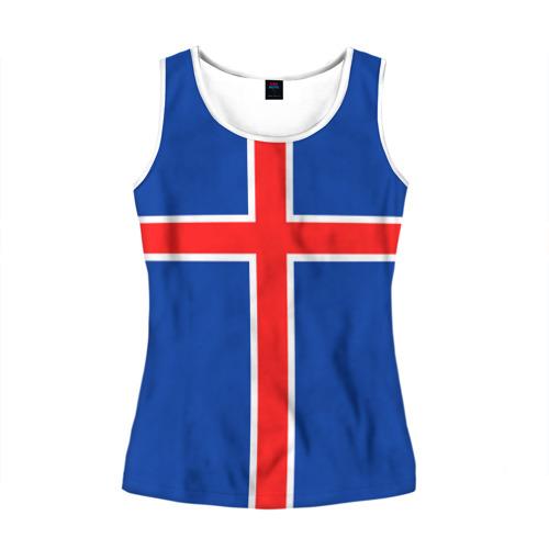 Женская майка 3D Флаг Исландии