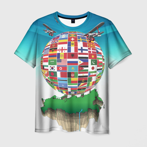 Мужская футболка 3D Флаги
