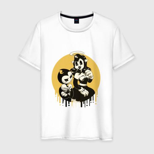 Мужская футболка хлопок Bendy and the ink machine (8)