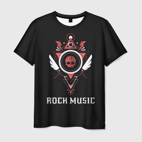 Мужская футболка 3D Rock Music