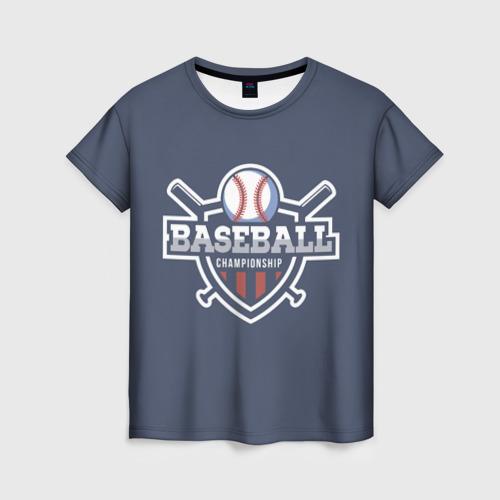 Женская футболка 3D Baseball