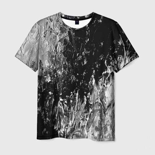 Мужская футболка 3D GRAY&BLACK