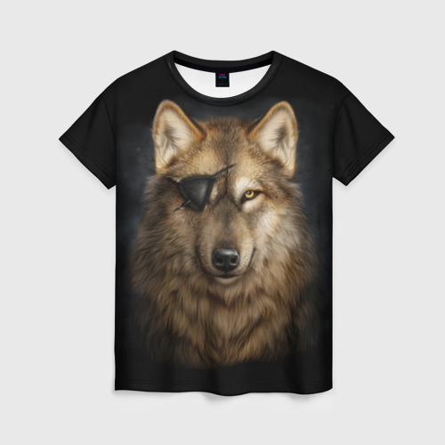 Женская футболка 3D Морской волк
