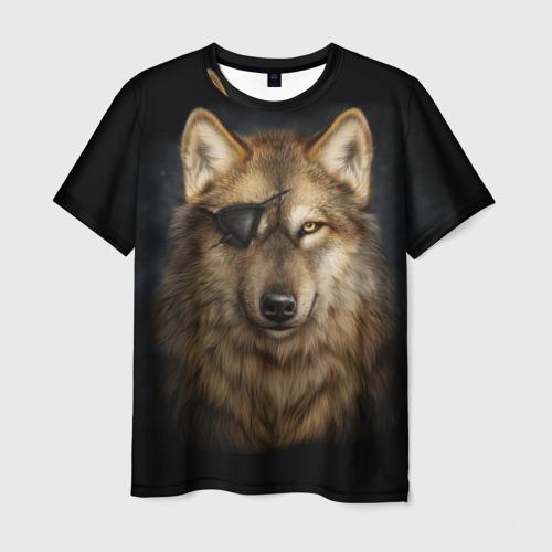 Мужская футболка 3D Морской волк