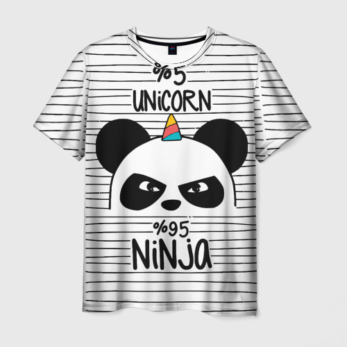 Мужская футболка 3D 5% Единорог 95% Ниндзя