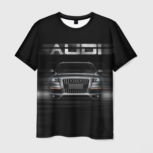 Мужская футболка 3D Audi Q7 скорость
