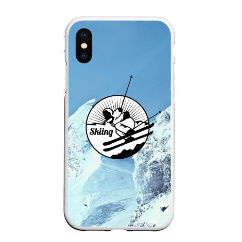 Чехол для iPhone XS Max матовый Лыжный спорт