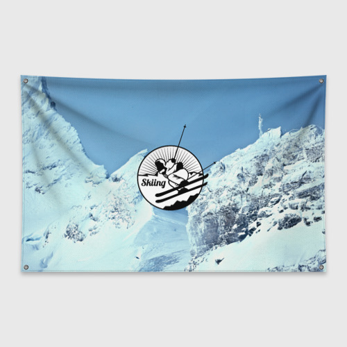 Флаг-баннер Лыжный спорт