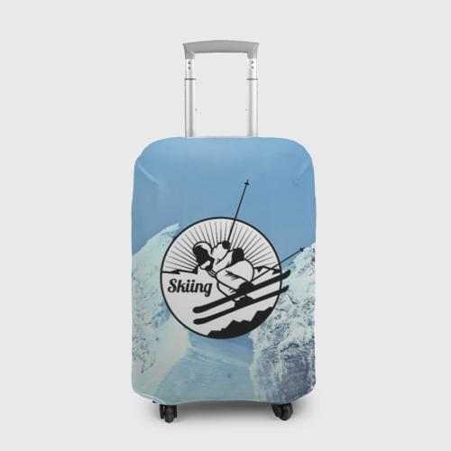 Чехол для чемодана 3D Лыжный спорт