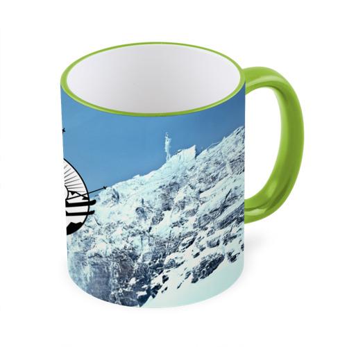 Кружка с полной запечаткой Лыжный спорт