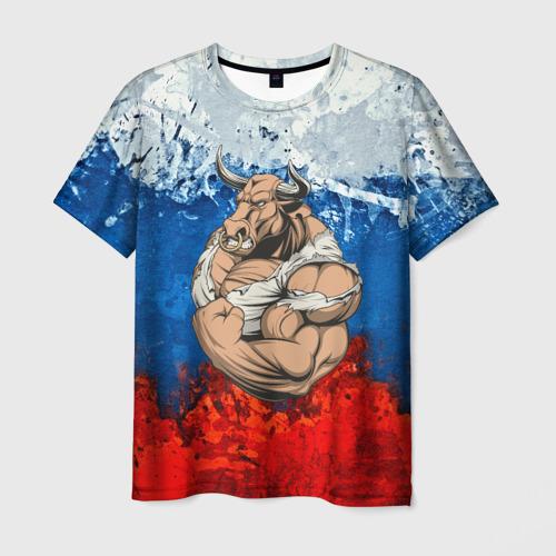Мужская футболка 3D Буйвол