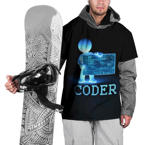 Накидка на куртку 3D Coder - программист кодировщик