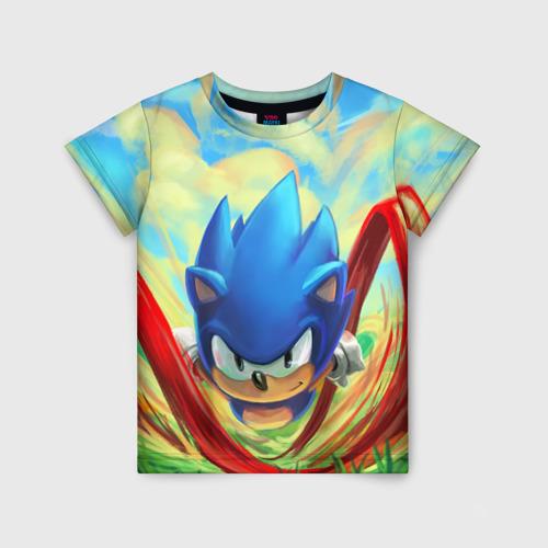Детская футболка 3D Sonic