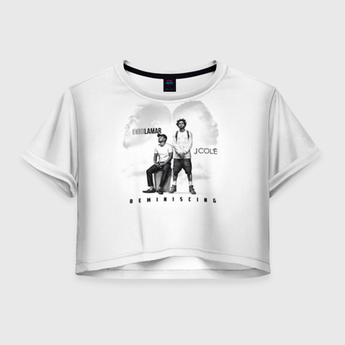 Женская футболка Crop-top 3D REMINISCING J. Cole и K. Lamar