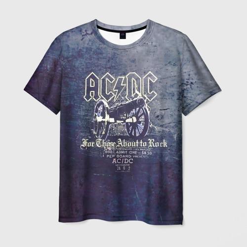 Мужская футболка 3D AC/DC пушка