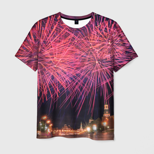 Мужская футболка 3D День города Москва