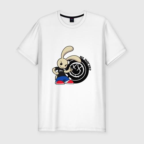 Мужская футболка хлопок Slim Заяц Blink-182