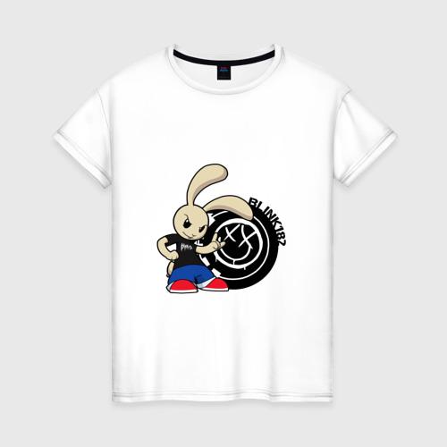Женская футболка хлопок Заяц Blink-182